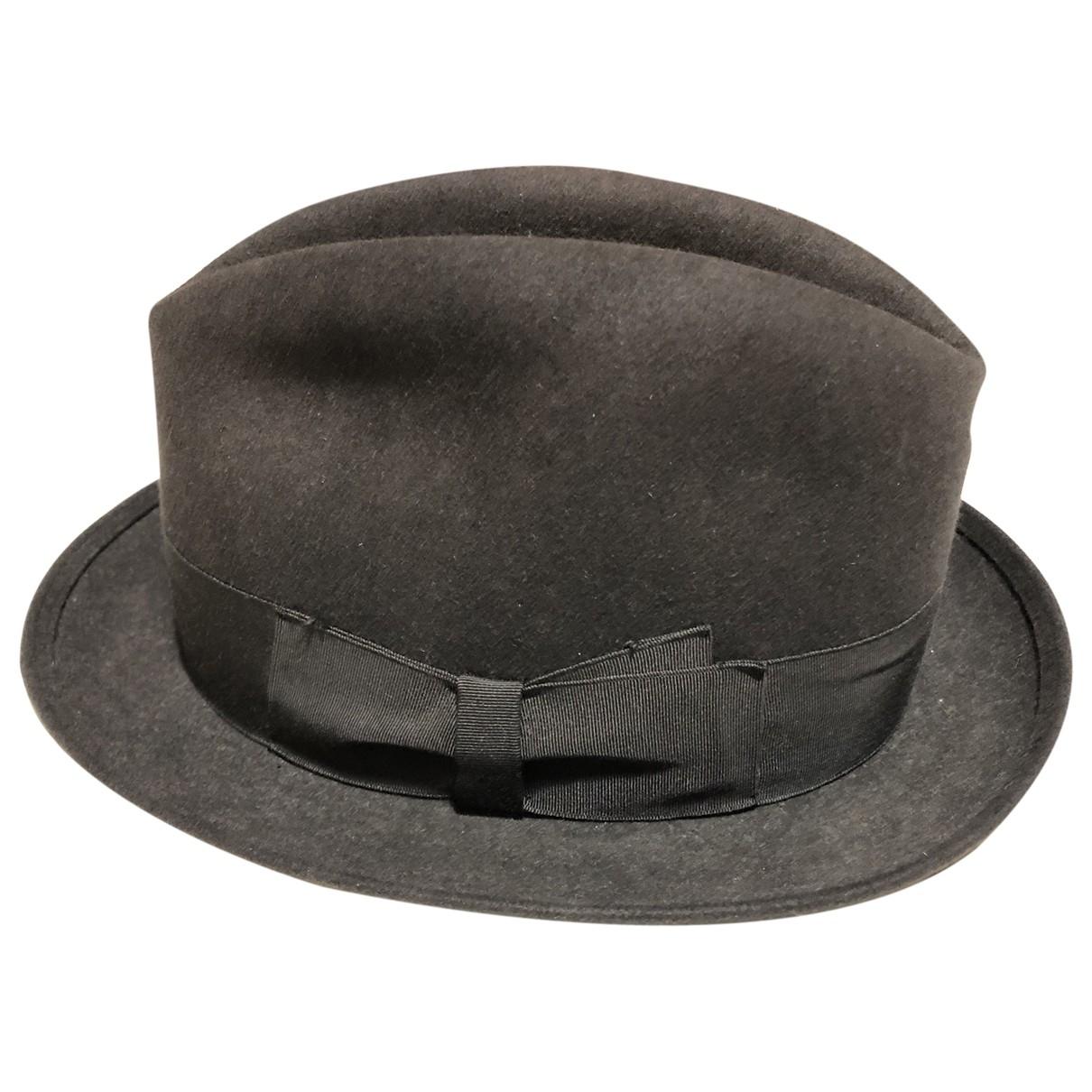 Borsalino - Chapeau & Bonnets   pour homme en laine - anthracite