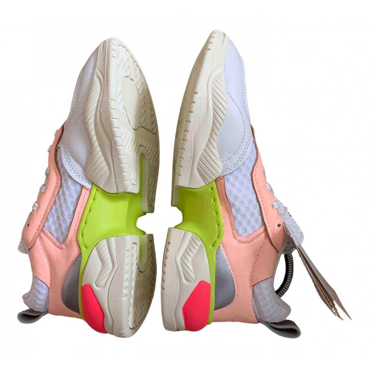Adidas - Baskets   pour femme en caoutchouc - blanc