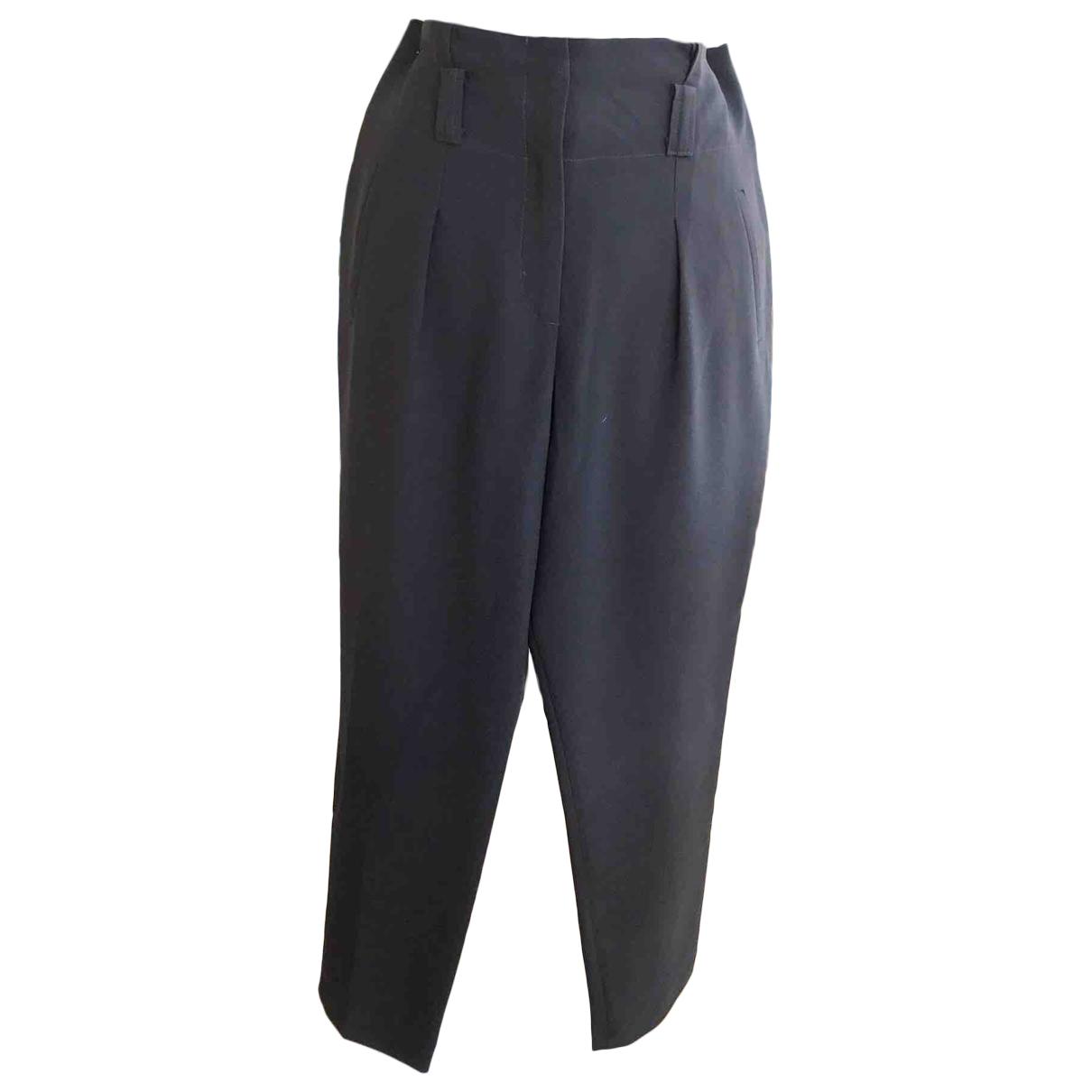 Claudie Pierlot \N Black Trousers for Women 40 FR