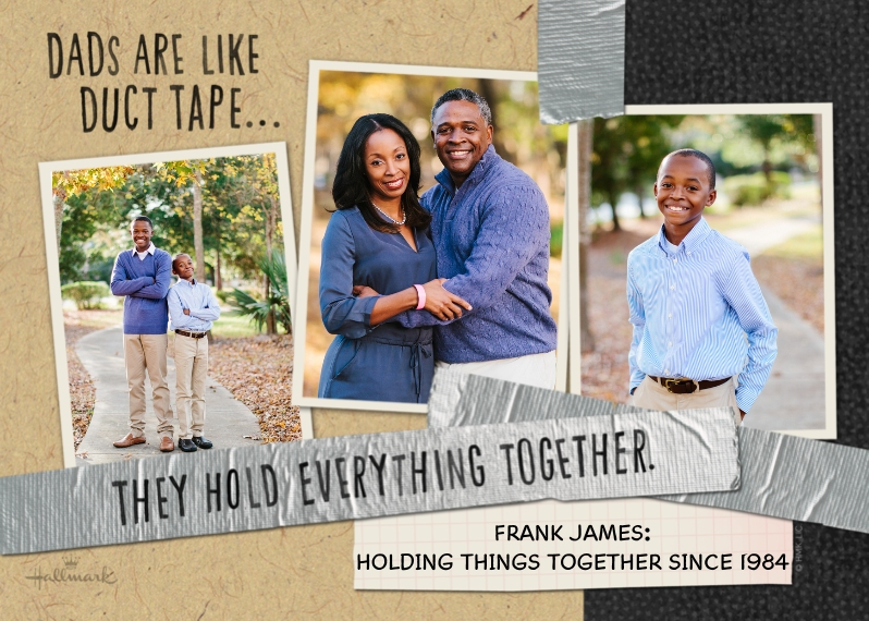 Father's Day 5x7 Folded Cards, Premium Cardstock 120lb, Card & Stationery -Duct Tape