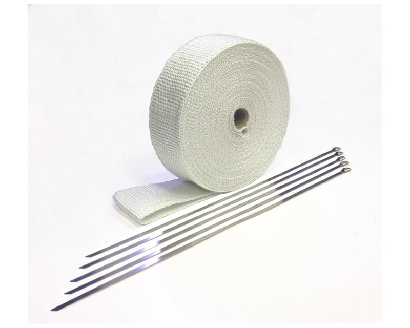 Prosport Performance Fiberglass Heat Wrap-White 50-Foot Roll with 5 Stainless Steel Zip Ties