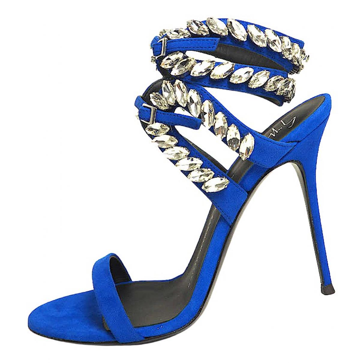 Giuseppe Zanotti - Sandales   pour femme en cuir - bleu