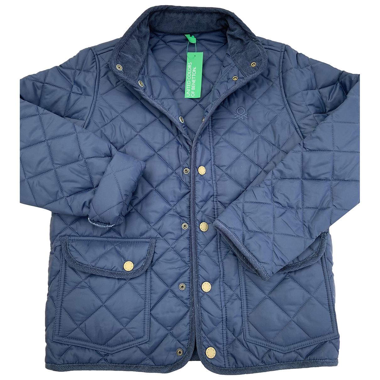 Benetton \N Jacke, Maentel in  Blau Polyester
