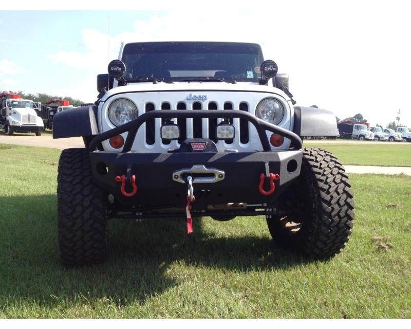 Hammerhead Armor 600-56-0206 Jeep JK Front Winch Bumper Stubby Pre Runner For 07-18 Wrangler JK