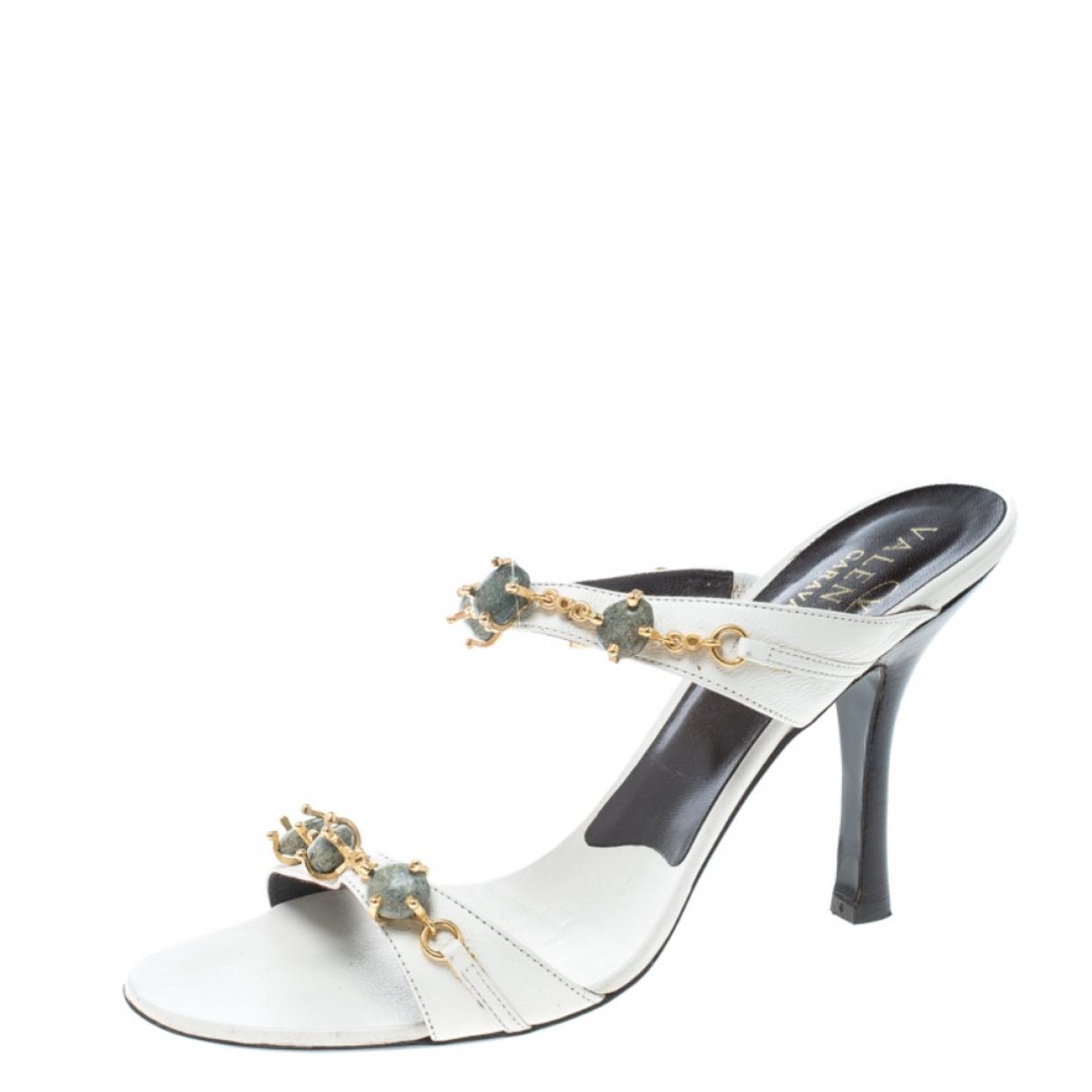 Autre Marque - Sandales   pour femme en cuir - blanc