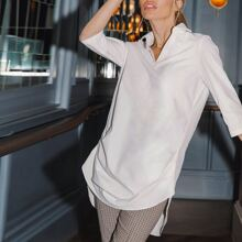 High Low Tunic Blouse