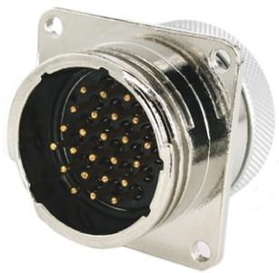 Toughcon Connector, 24 contacts Panel Mount Socket, Crimp IP65