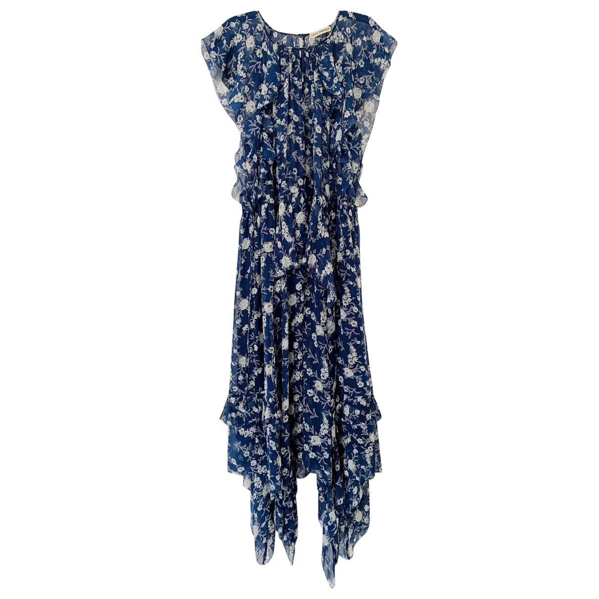Ulla Johnson N Blue Silk dress for Women 6 US