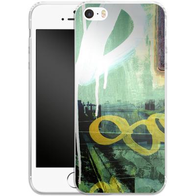 Apple iPhone 5s Silikon Handyhuelle - Bees Urbanalley von Brent Williams