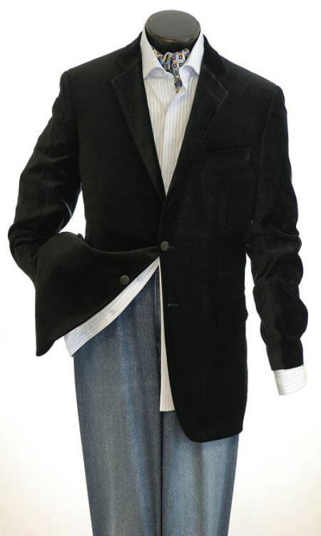 Mens Velvet Sport Jacket Velvet Blazer