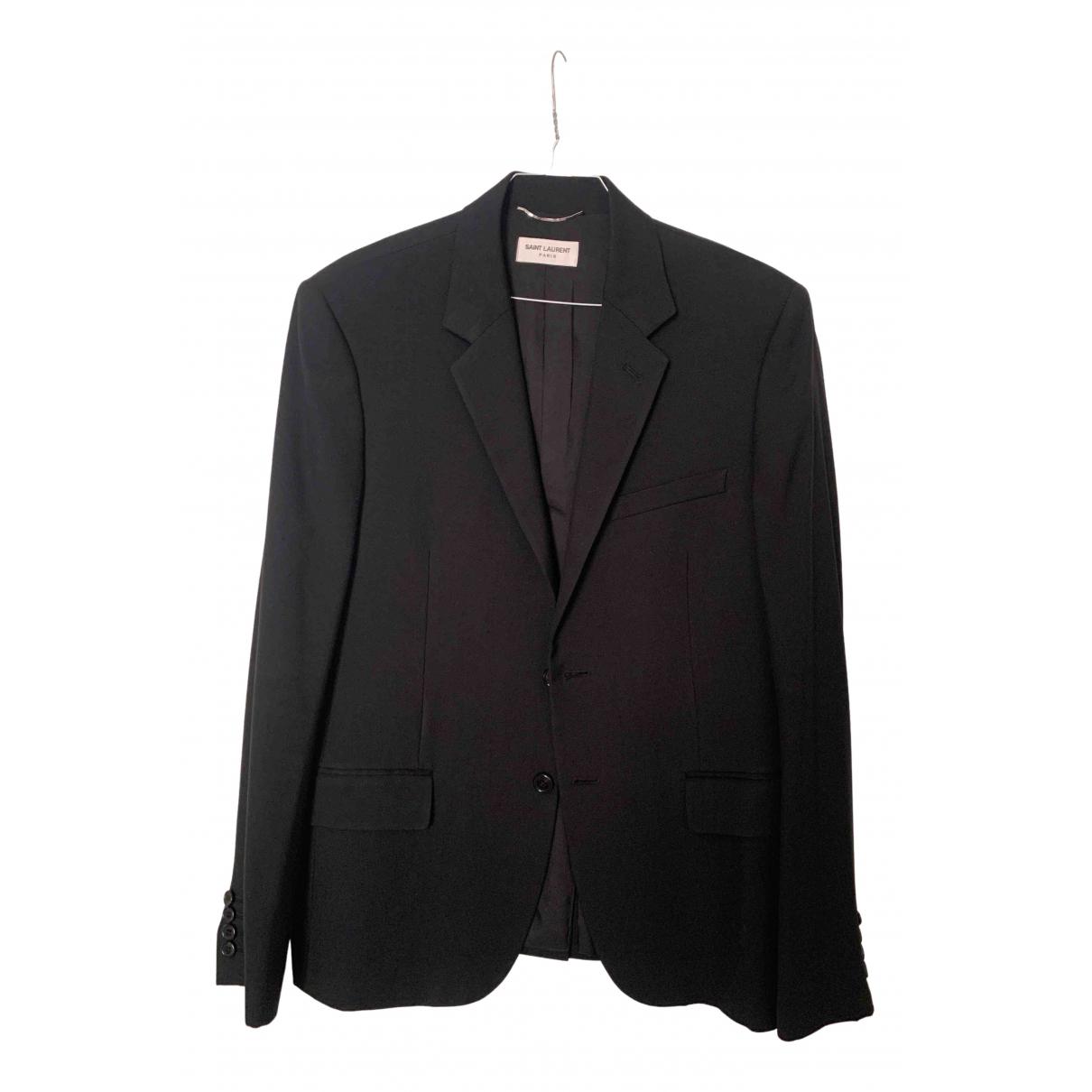 Saint Laurent \N Black Wool jacket  for Men 50 FR