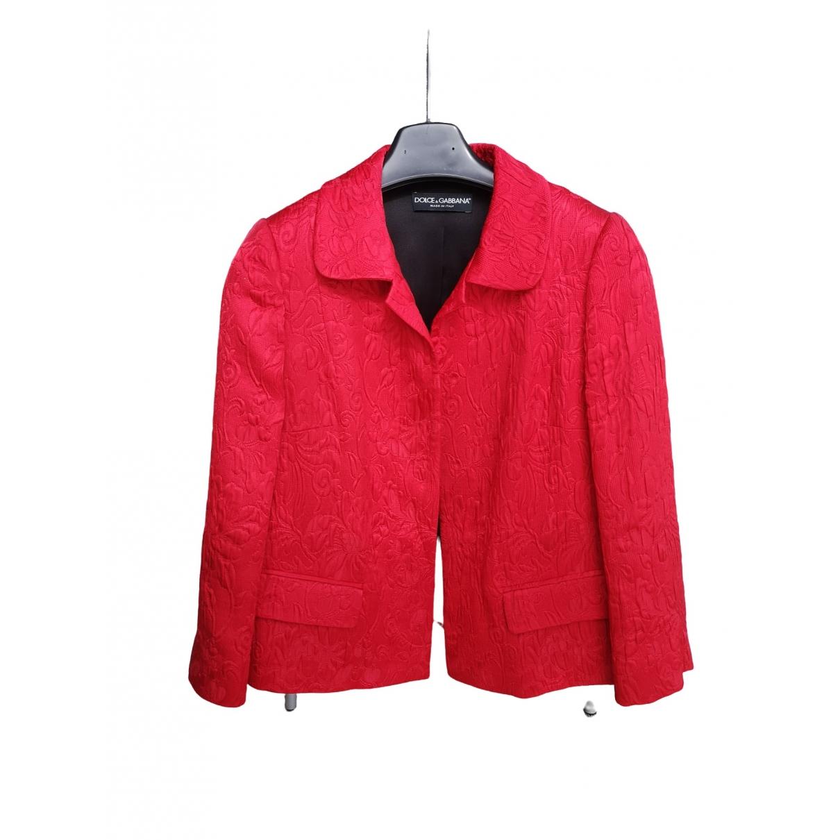 Dolce & Gabbana - Veste   pour femme en soie - rouge