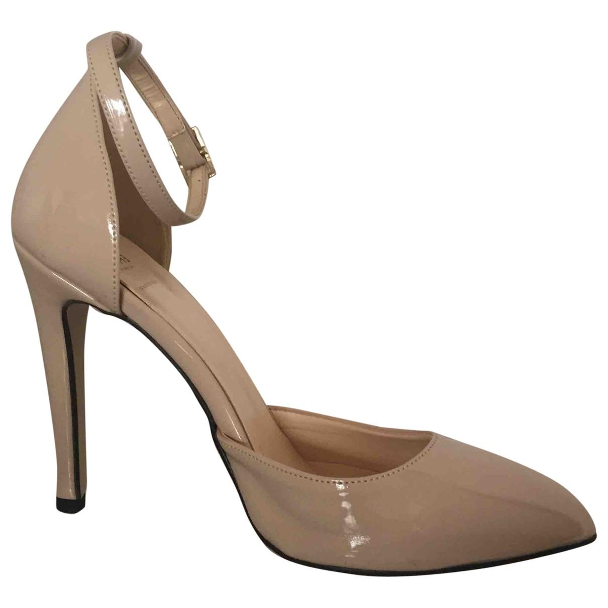 Marella - Escarpins   pour femme en cuir verni - beige