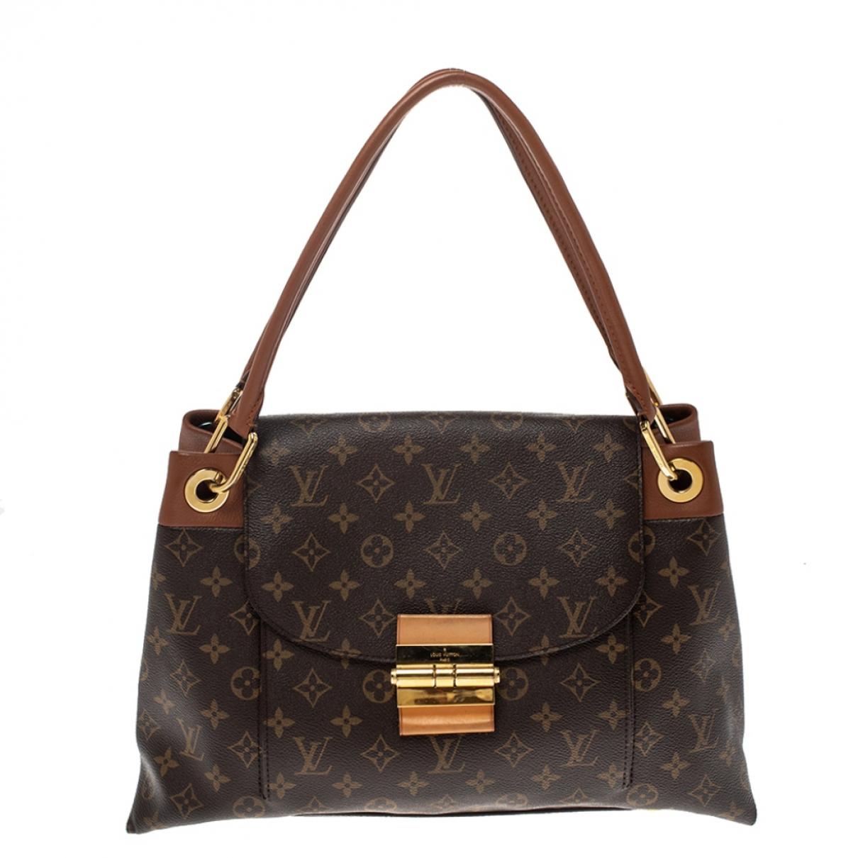 Louis Vuitton - Sac a main Carmel pour femme en toile - marron