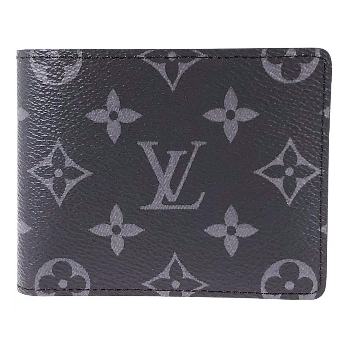 Louis Vuitton \N Kleinlederwaren in  Schwarz Leinen
