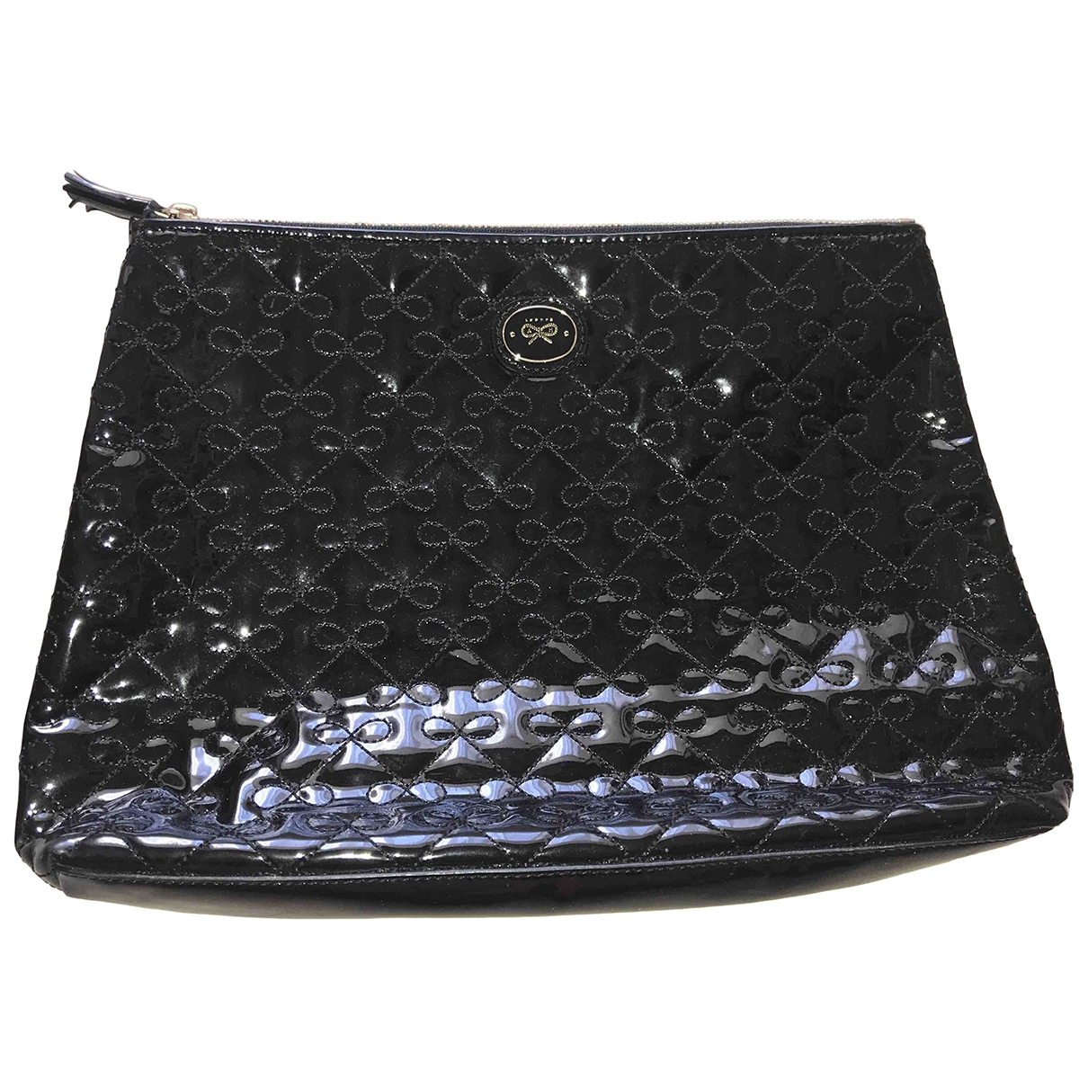 Anya Hindmarch \N Black Patent leather Clutch bag for Women \N