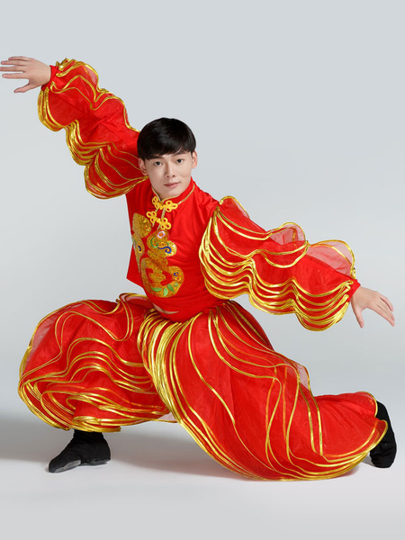 Milanoo Disfraz Halloween Trajes tradicionales chinos Nice Carnival Dragon Dance Red Lantern Outfit Carnaval Halloween