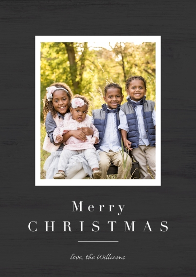 Christmas Photo Cards Flat Glossy Photo Paper Cards with Envelopes, 5x7, Card & Stationery -Farmhouse Modern