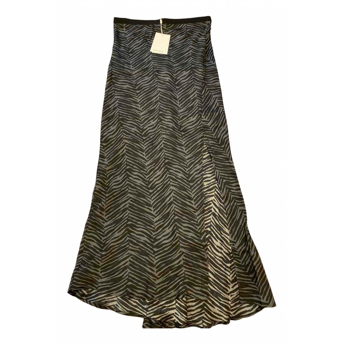 Anine Bing N Khaki Silk skirt for Women S International