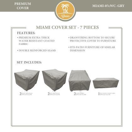 Miami MIAMI-07cWC-GRY MIAMI-07c Protective Cover Set in