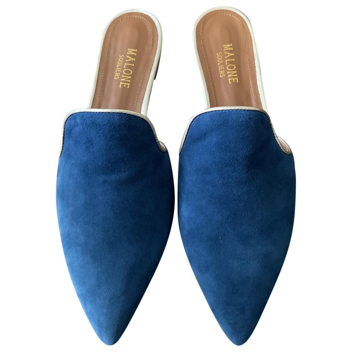Malone Souliers - Sandales   pour femme en suede - bleu