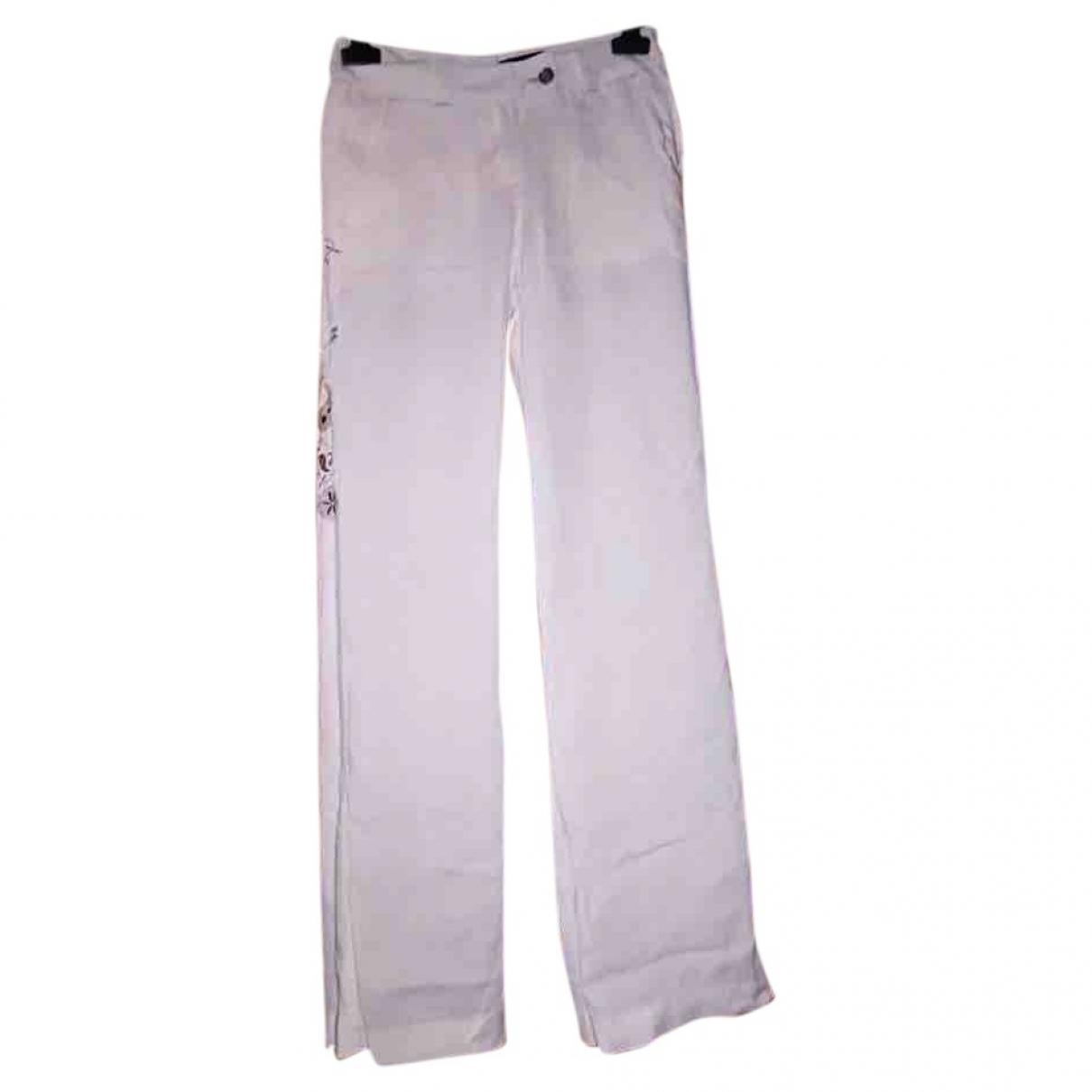 Calvin Klein \N White Linen Trousers for Women S International