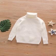 Girls Turtleneck Raglan Sleeve Sweater