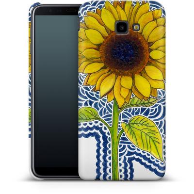 Samsung Galaxy J4 Plus Smartphone Huelle - Sunflower Drawing von Kaitlyn Parker