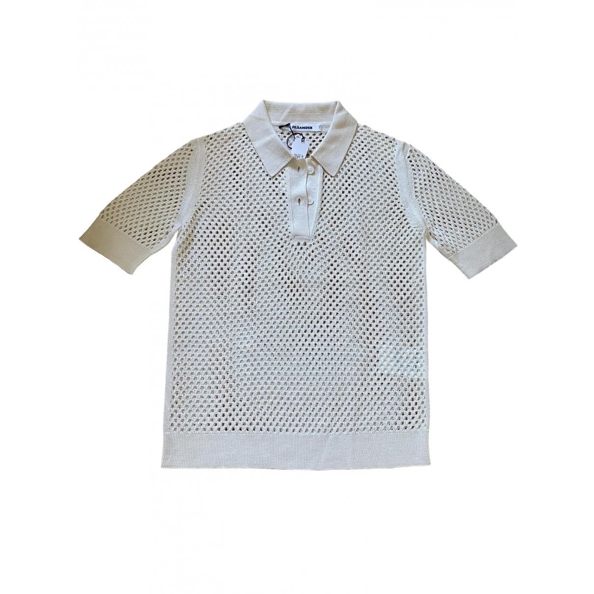 Jil Sander - Top   pour femme en soie - beige