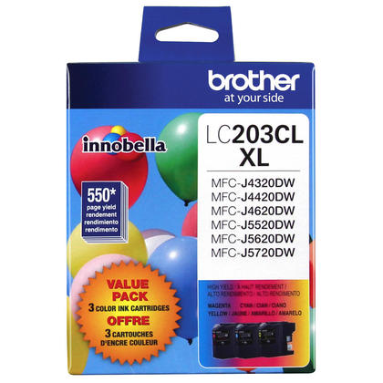 Brother MFC-J485DW Original Colour Ink Cartridges C/M/Y Combo, 3 pack - High Yield