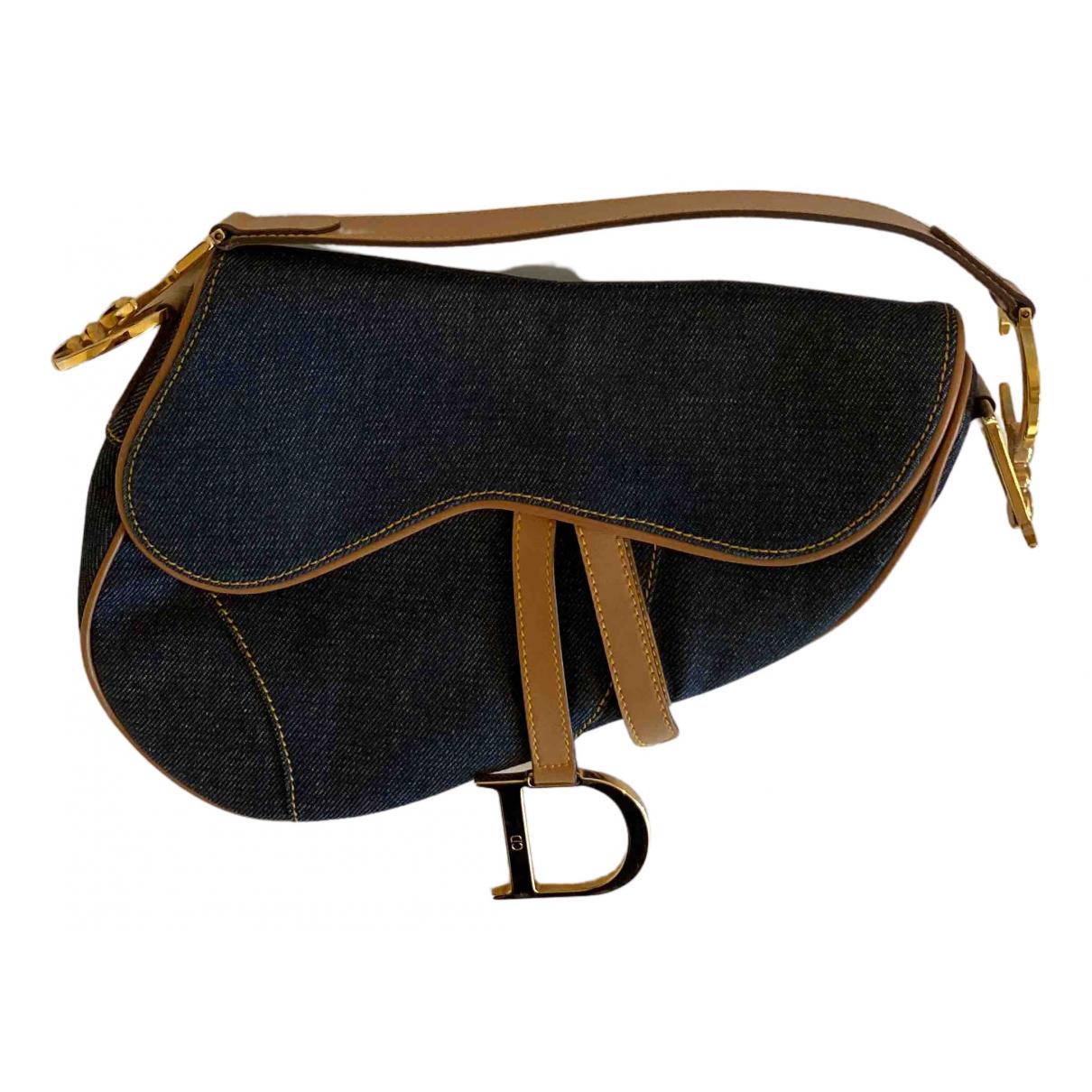 Dior Saddle Handtasche in  Blau Denim - Jeans