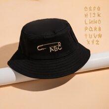 26 Letter DIY Decor Bucket Hat