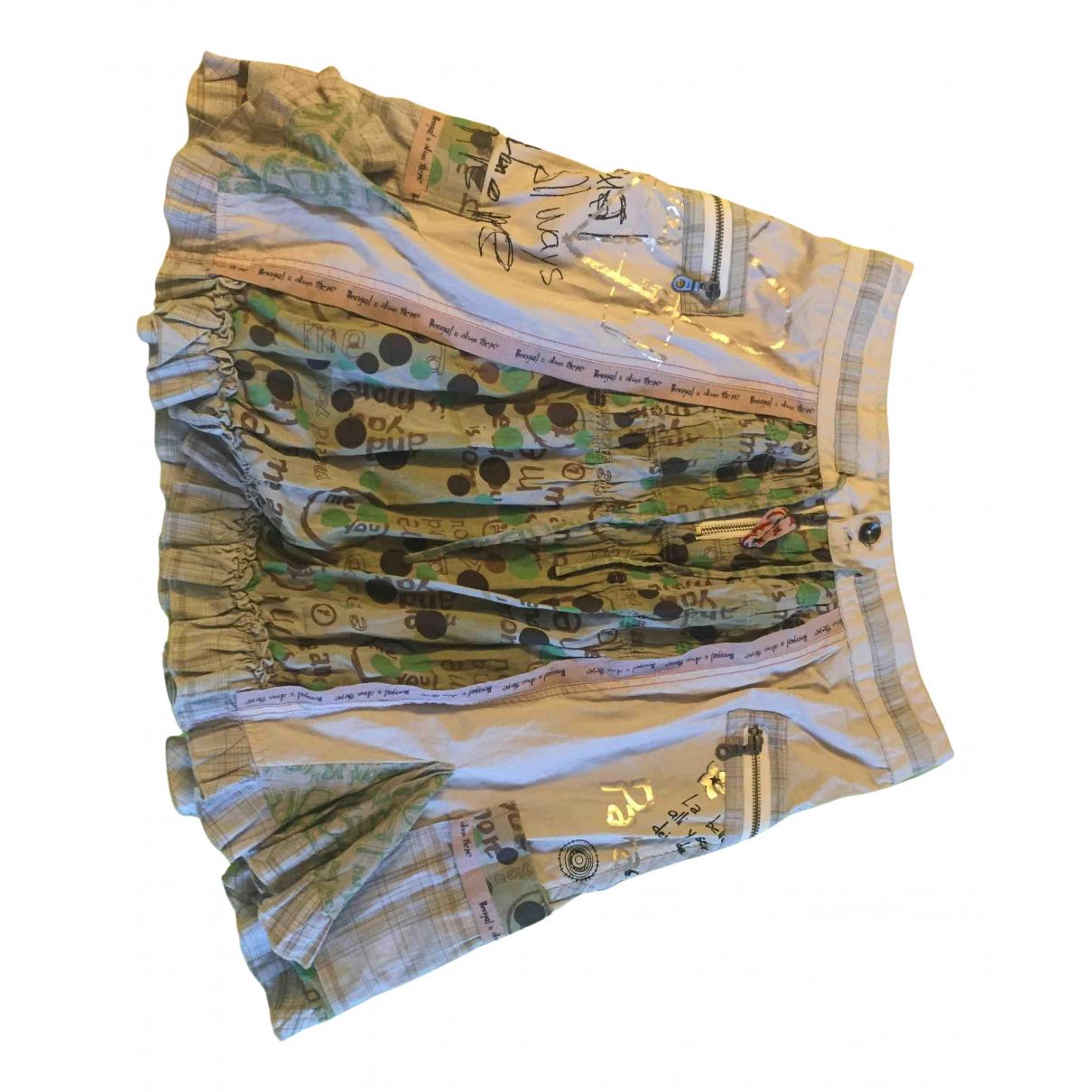 Desigual - Jupe   pour femme en coton - kaki