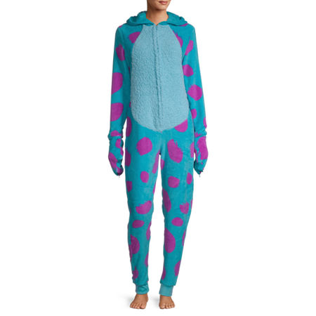 Disney Collection Sulley Womens Monsters University Long Sleeve One Piece Pajama, Large , Blue