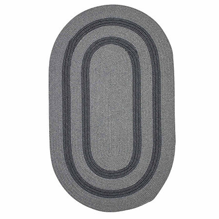 Colonial Mills Manhattan Reversible Braided Oval Rug, One Size , Gray