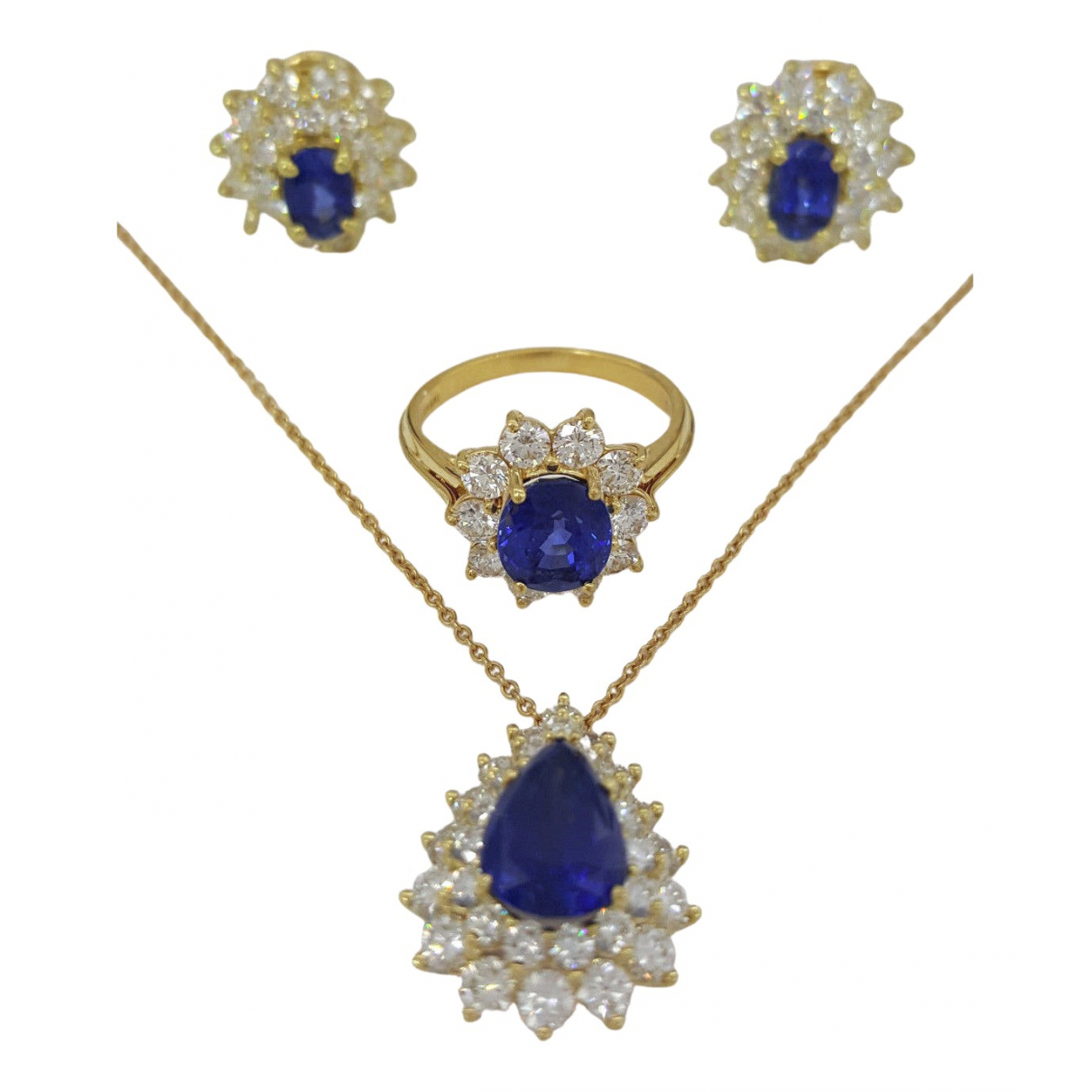 Tiffany & Co \N Schmuck-set in  Blau Gelbgold