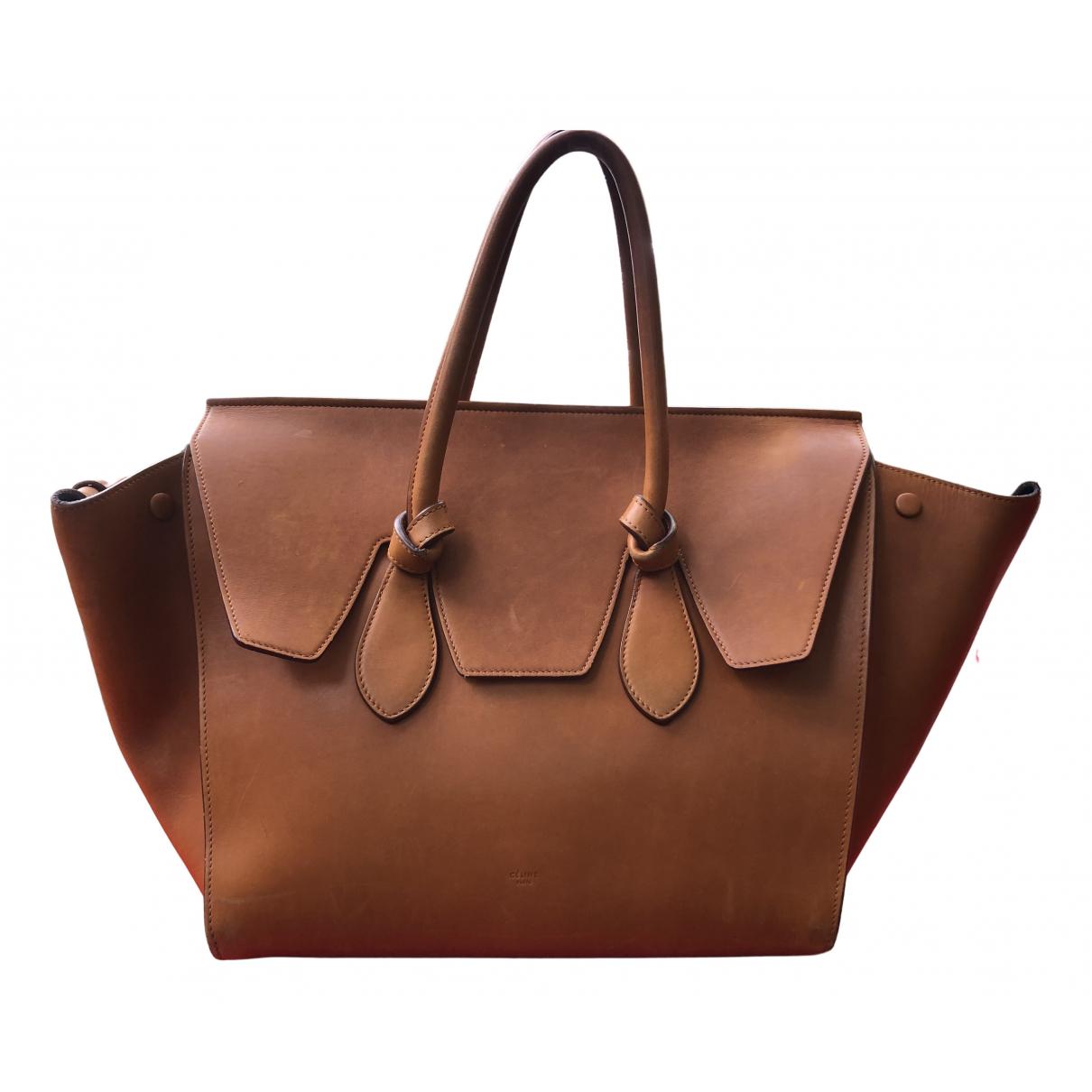Celine Tie Camel Leather handbag for Women N