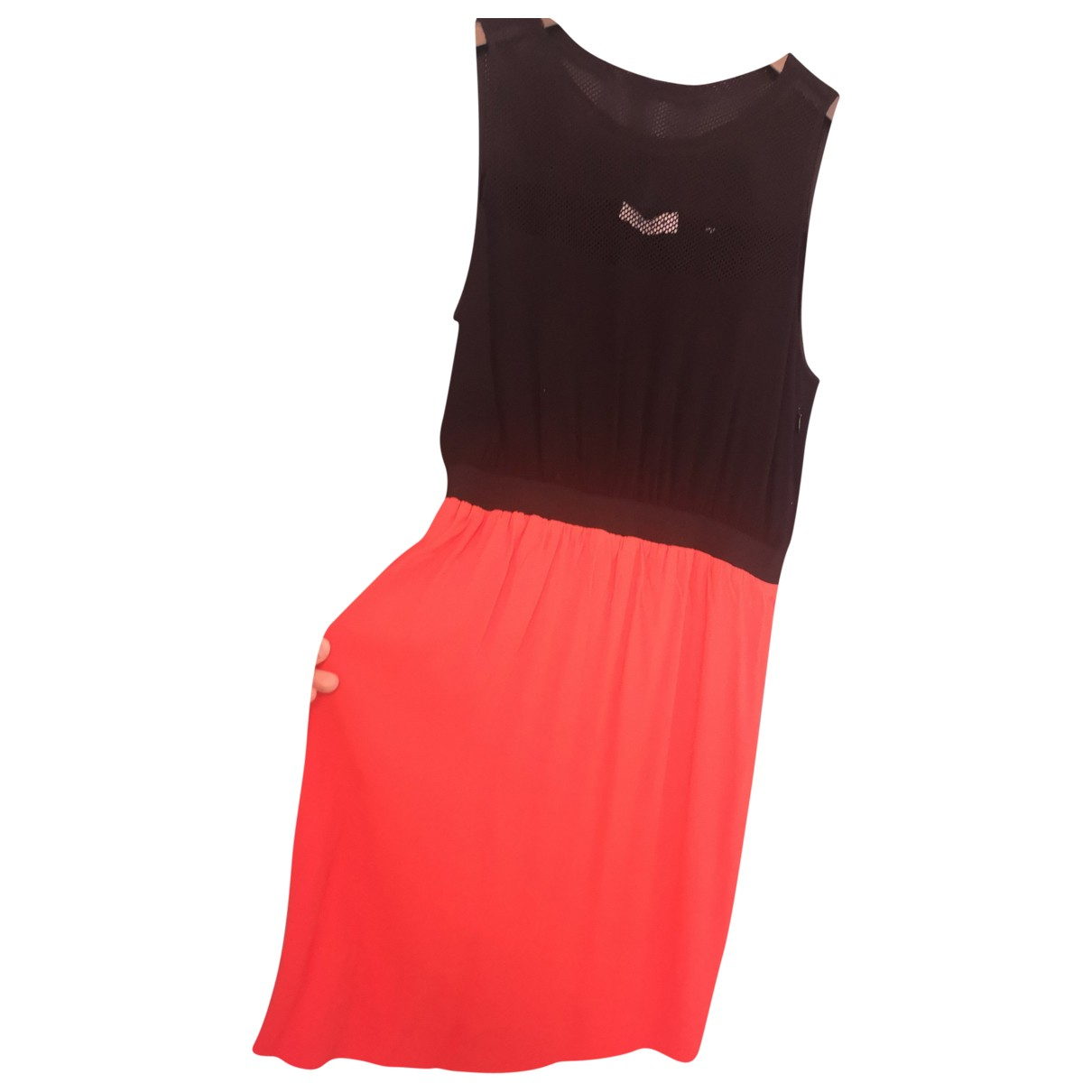 Sandro \N Kleid in  Rot Synthetik