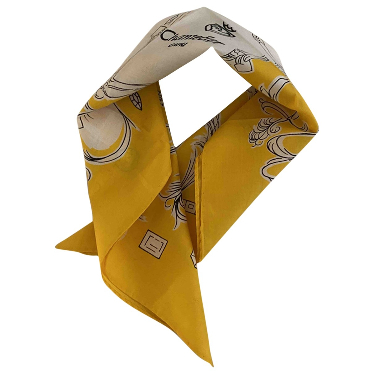 Non Signé / Unsigned \N Yellow Cotton scarf for Women \N