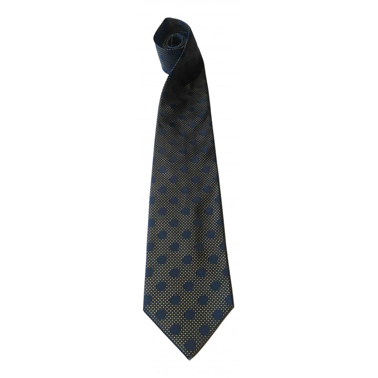 Lanvin - Cravates   pour homme en soie - bleu