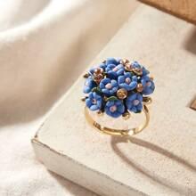 1 pieza anillo con diseño de flor