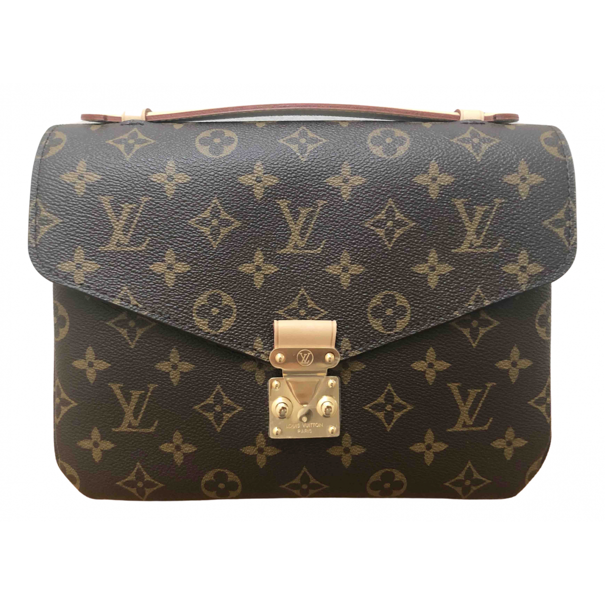 Louis Vuitton - Sac a main Metis pour femme en toile - marron
