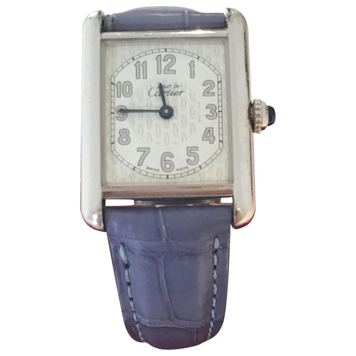 Cartier Tank Must Uhr in  Weiss Silber