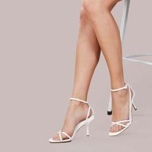 Weiss Einfarbig Sandalen