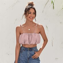 Adjustable Strap Ruched Cami Top