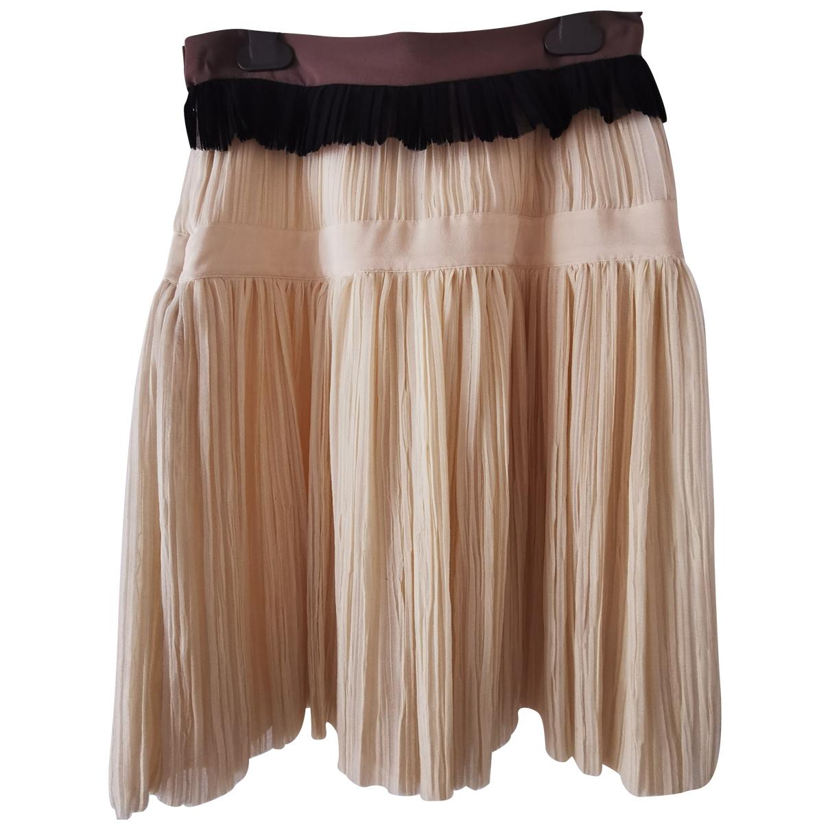 Fendi - Jupe   pour femme en soie - multicolore