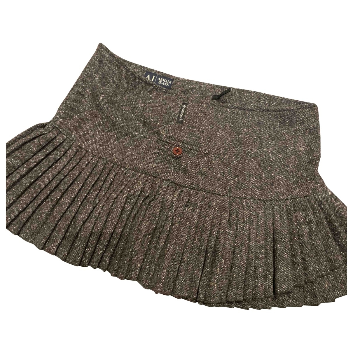 Armani Jeans \N Grey Wool skirt for Women 38 FR