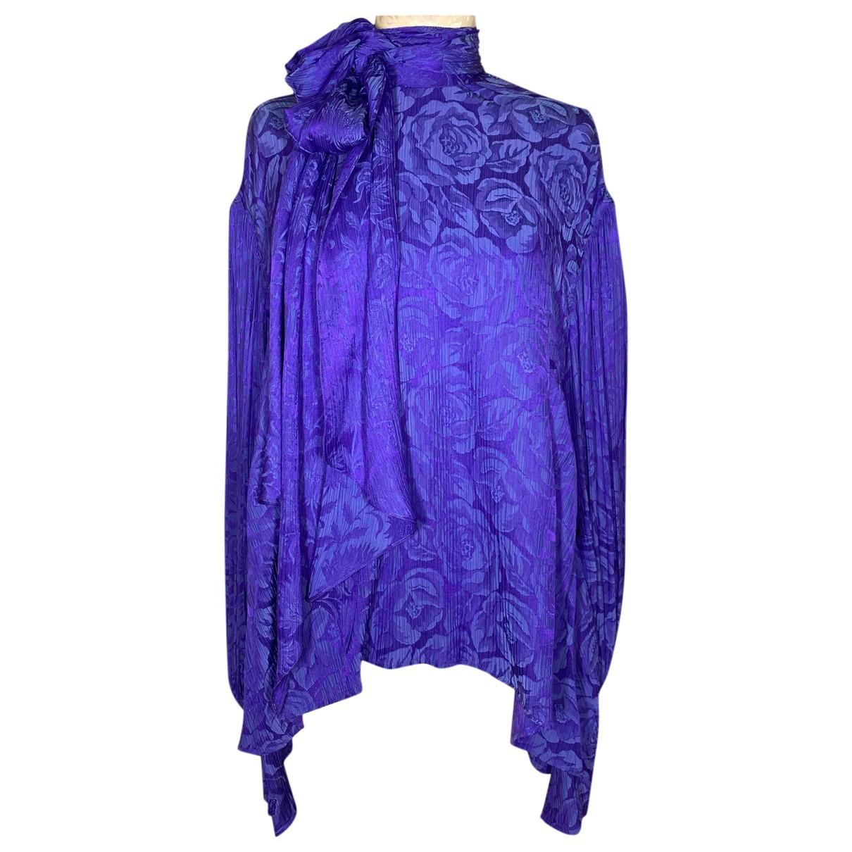 Chloe - Top   pour femme en soie - violet