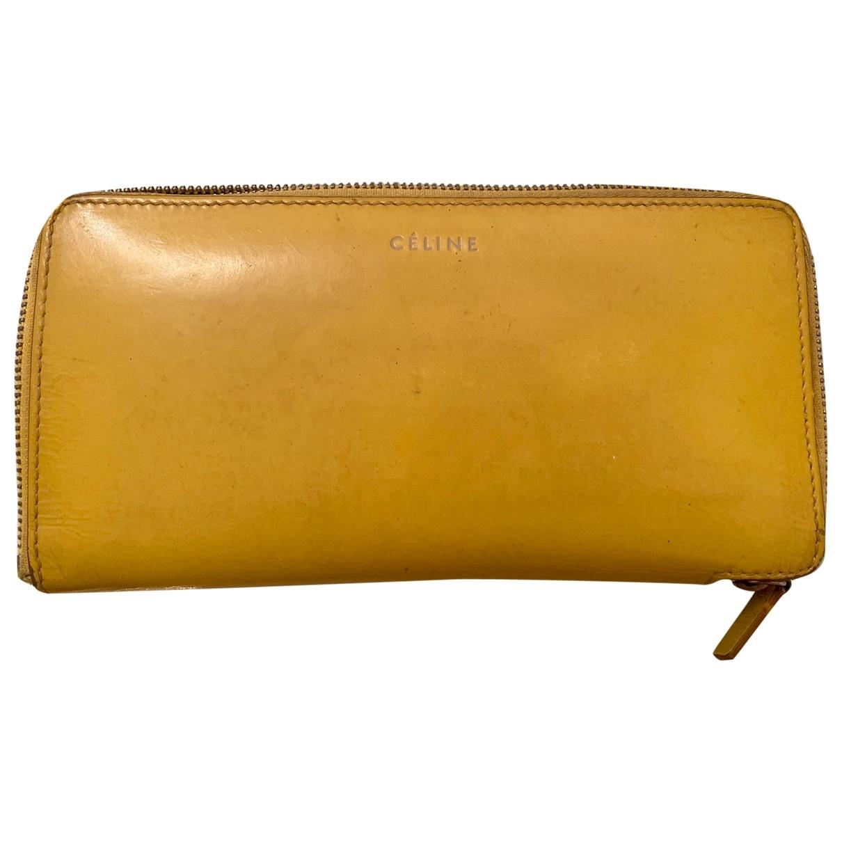 Celine - Portefeuille   pour femme en cuir - jaune