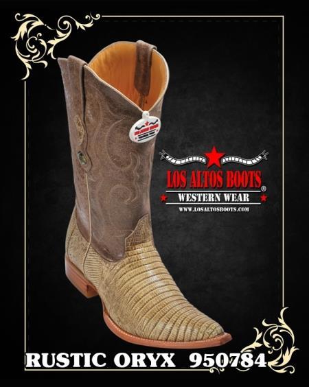 XXXToe Lizard Teju Mens Cowboy Boots by Los Altos